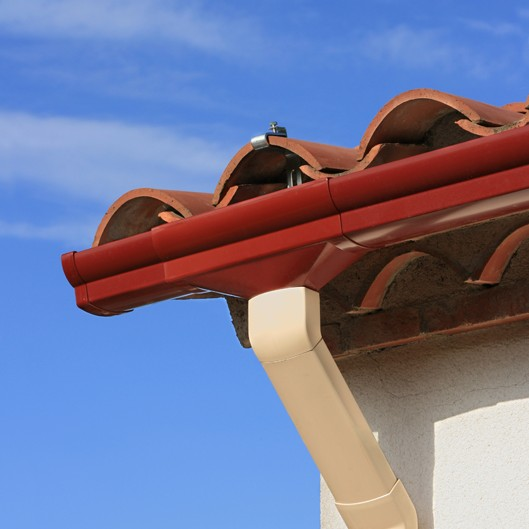 Tile Roof and Gutter System